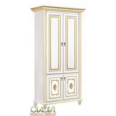 Шкаф 2-х дверный Верона (белый)