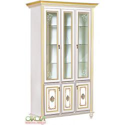 Витрина 3-х дверная Верона (белый)