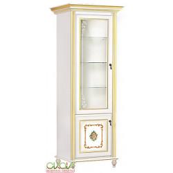 Витрина 1-но дверная Верона (белый)