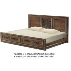 Кровать 2-спальная №1 Тоскана Нова
