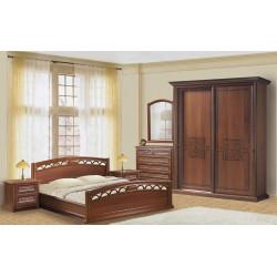 Шкаф- Купе 2х дверный 1,9 С-3 (орех) тиснением без зеркала