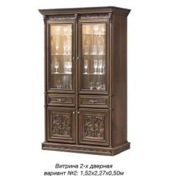 Витрина 2-дверная вариант №2 Тоскана Нова