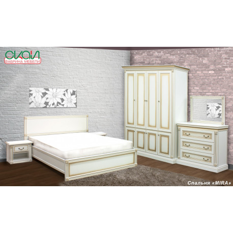 Спальня Мира с 4дв. шкафом