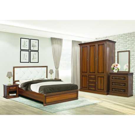 Комплект спальной МИРА с 3-х дверным шкафом