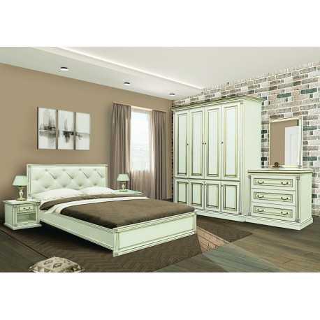 Комплект спальной МИРА с 4-х дверным шкафом