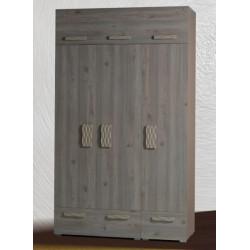 Шкаф 3-дверный с антресолью Адель