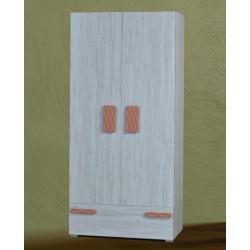Шкаф 2-дверный Адель (аляска)