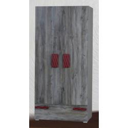 Шкаф 2-дверный Аляска (шифер/морас/4)